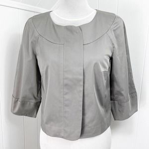 TRINA TURK Crop Satin Zip Jacket